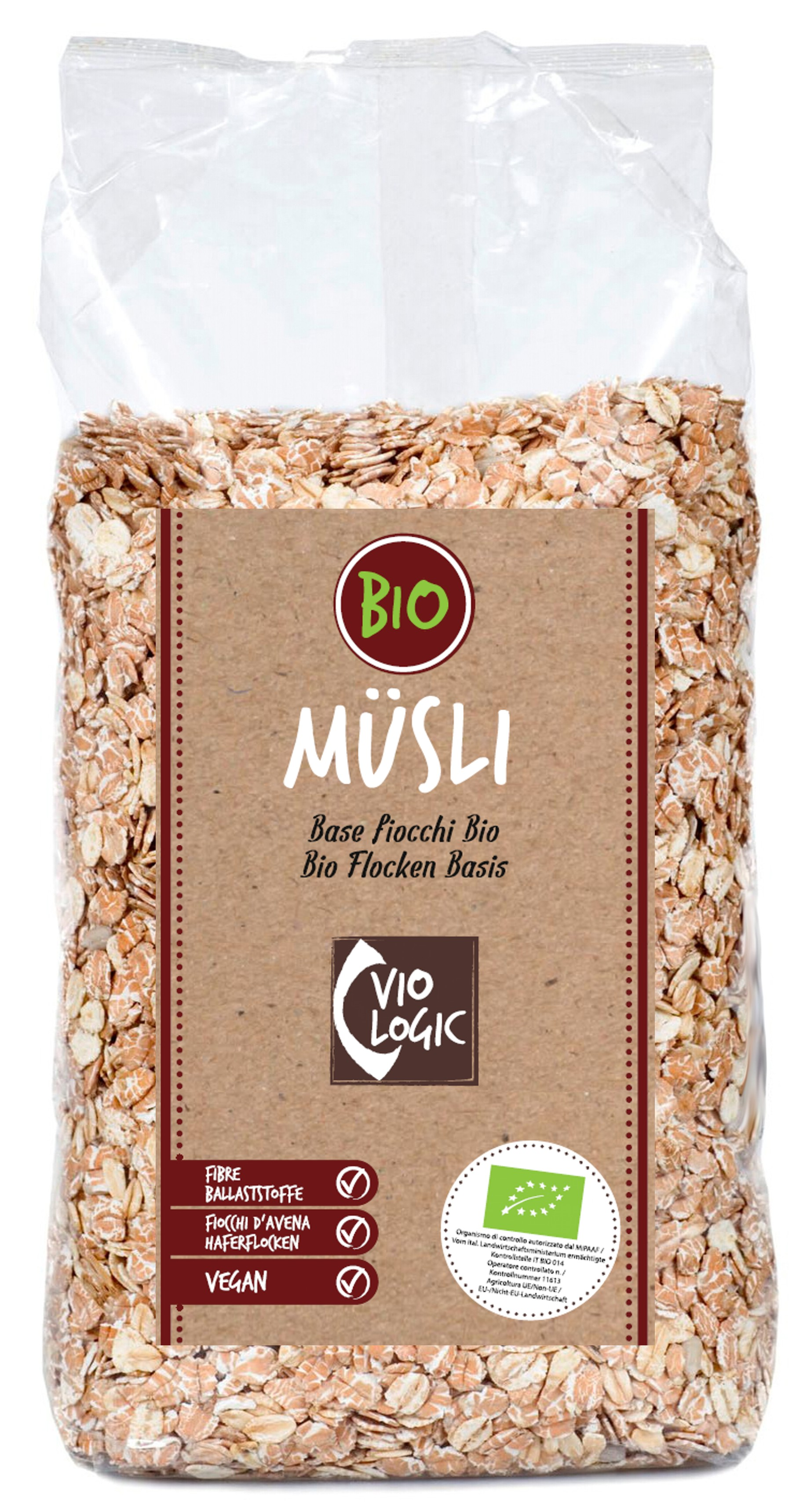 Bio Flocken Basis Müsli 500g